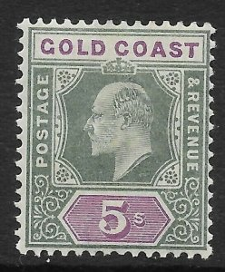 GOLD COAST SG46 1902 5/= GREEN & MAUVE MTD MINT