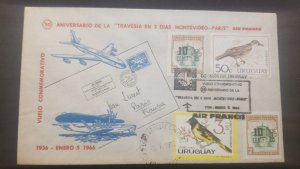 U) 1966, URUGUAY,  ANNIVERSARY OF THE CROSSING IN THREE DAYS MONTEVIDEO, COVER