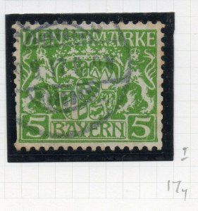 Bayern 1916 Official Early Issue Fine Used 5M. NW-10785