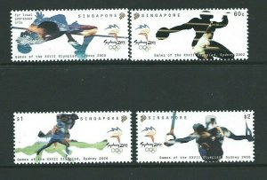 SINGAPORE SG1065/8 2000 OLYMPIC GAMES MNH