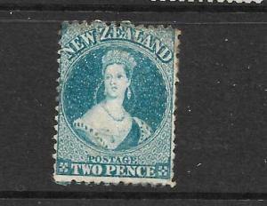 NEW ZEALAND 1864-67  2d  PALE BLUE  FFQ  MH  P12 1/2   CP A2N4  SG 114 CHALON