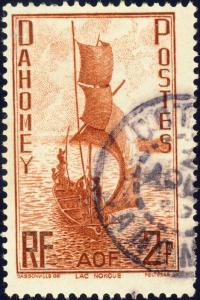 DAHOMEY - 1941 - Yv.136 / Mi.141 2fr rouge-brun - Oblitéré TB