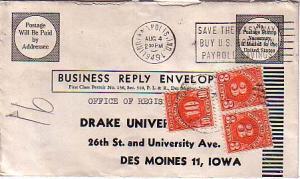 United States, Postage Due, Indiana, Iowa