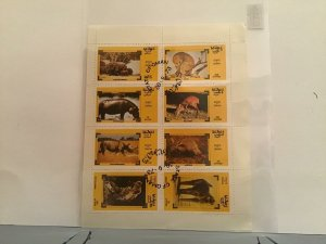 State of Oman African Animals 1973  stamps Sheet R23506
