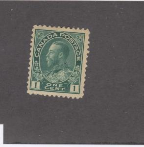 CANADA # 104 VF-MH 1ct KGV ADMIRAL DEEP GREEN CAT VALUE $40