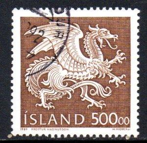 ICELAND 677 USED SCV $7.00 BIN $2.80 DRAGON