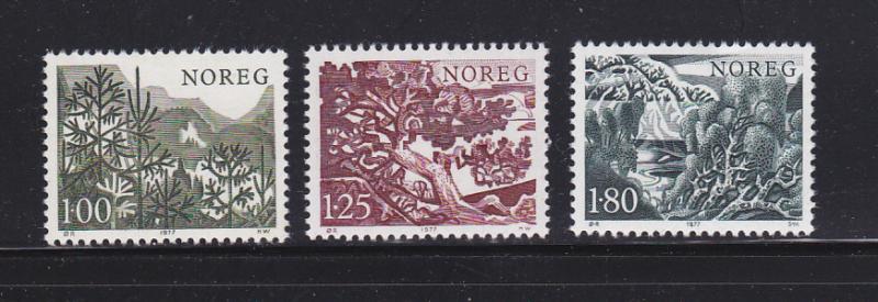Norway 695-697 Set MNH Trees (A)