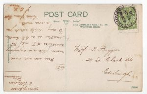 Z535 Jlstamps 1914 stamped postcard pittenweem harbor coastal town view scotland