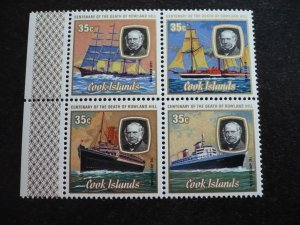 Cook Islands - Set of Three Blocks with Lathe Selvedge