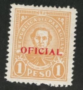 Paraguay Scott o96 Official stamp MH*