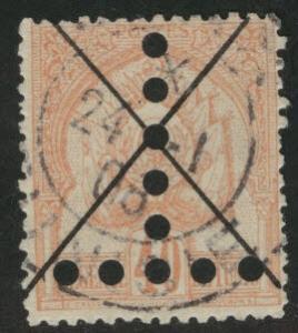Tunis Tunisia Scott JA20a used postage due 1888 faded