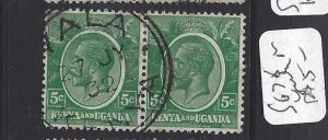 KENYA AND UGANDA  (P2510B) KGV 5 C SG 78  PR YALA   CDS  VFU