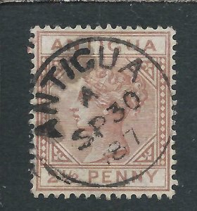 ANTIGUA 1882 2½d RED-BROWN COMPLETE ANTIGUA CDS FU SG 22 CAT £55
