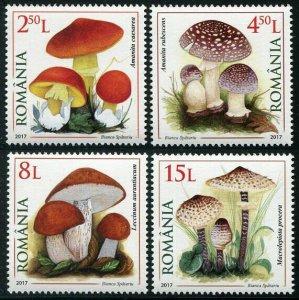 HERRICKSTAMP NEW ISSUES ROMANIA Sc.# 6005-08 Mushrooms