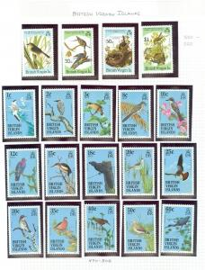 EDW1949SELL : VIRGIN ISLANDS Beautiful collection of Birds. Cplt sets. Cat $151.