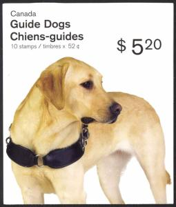 Canada Sc# BK374 Booklet MNH 2008 52¢ Guide Dogs