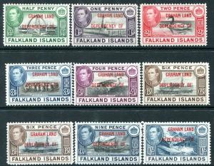 GRAHAM LAND-1944-45 Set to 1/- incl. both 6d shades Sg A1-A8/A6a  MOUNTED MINT