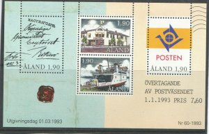 1993   ALAND  -  SG:MS65  -  POSTAL AUTONOMY - UNMOUNTED MINT