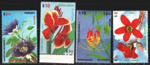Bangladesh. 1995. 528-32 from the series. Orchids, flowers. MNH.