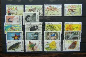 Barbados 1990 Horse Racing Queen Mother Insects Christmas 1991 Butterflies Used