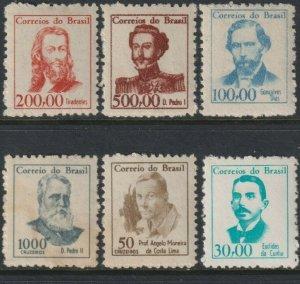 Sc# 989 / 992A Brazil 1965-66 Famous Men complete set MNH CV $106.00