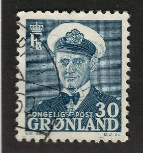 Greenland 1953 Sc #33 Used VF Cat $1.90...Quality Bargain!
