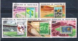 Burkina Faso 456-60 Used set Soccer and stamps 1977 (HV0233)