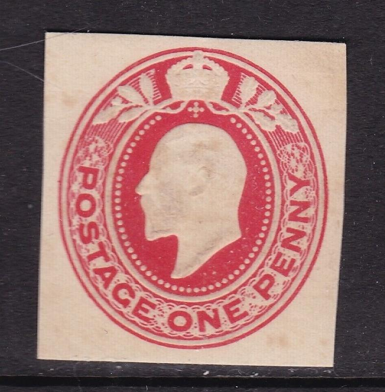 GB Edward VII 1d Cutout VFU VGC