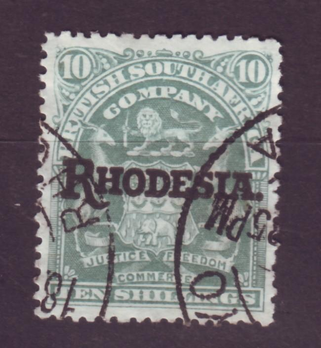 J17085 JLstamps 1909 rhodesia used #98 ovpt