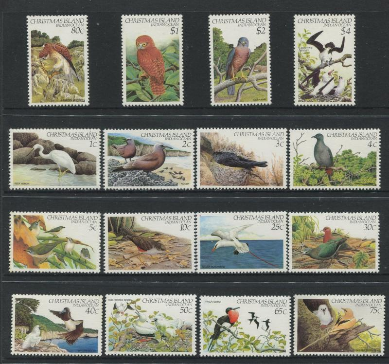 Christmas Is. - Scott - 117-132 - Birds Issue - 1982 - MNH - Set of 16 Stamps