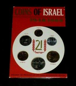 ISRAEL, 1948-1969, COINS OF ISRAEL, SEALED SPECIMEN SET, MNH, NICE! LOOK!
