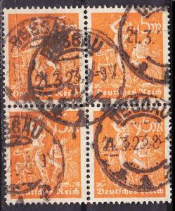 GERMANY REICH [1922] MiNr 0238 ( O/used ) [02] 4er