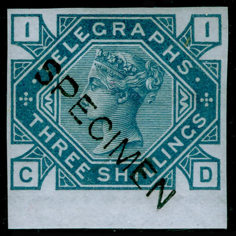 SGT11s, 3s slate-blue, NH MINT. Cat £120+. SPECIMEN. IMPERF. CD