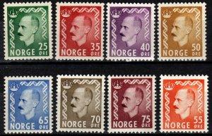Norway #345-52  F-VF Unused  CV $38.25 (SU8631)