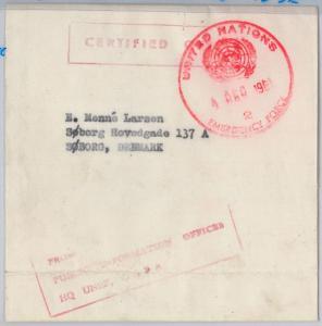 PALESTINE Gaza --  POSTAL HISTORY:  Wrapper from GAZA with nice UN postmark 1961