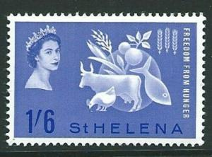 ST.HELENA SG190 1963 FREEDOM FROM HUNGER  MNH