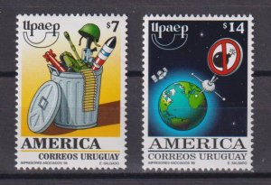 Uruguay 1999 America - A New Millennium without Arms  (MNH)  - Space, Weapon