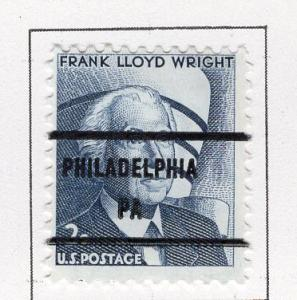 U. S. Precancel Philadelphia, PA # 1280-81 USED HINGED