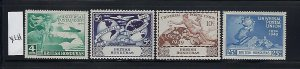 BRITISH HONDURAS SCOTT #137-140 1949 UPU ISSUE- MINT LIGHT HINGED