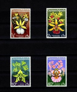 CAYMAN IS - 1971 - ORCHIDS - FLOWER - WILD ORCHID - WEST INDIES - MINT MNH SET!