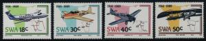 South West Africa 614-7 MNH Aircraft, Maps