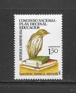 BIRDS - DOMINICAN REPUBLIC #1142  MNH