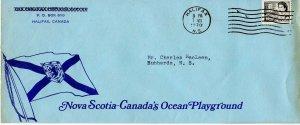 Flag on NOva Scotia CAnada's Ocean Playground advertising 6c booklt cover Canada