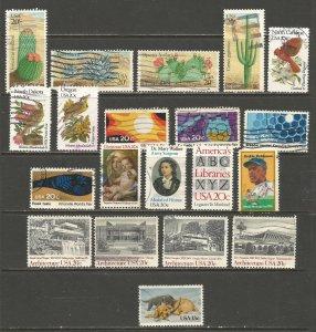 USA Postage Stamps Used 1982,1983
