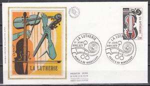 France, Scott cat. 1682. Violins issue. Silk Cachet First day cover.