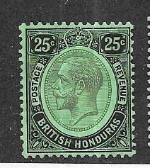 British Honduras #99  25c George V (M)  CV $3.25