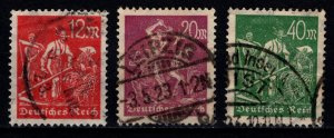 Germany 1923 Weimar Republic Definitives, Part Set [Used]