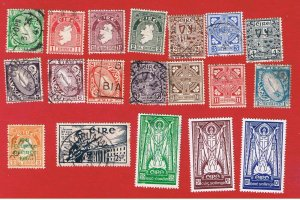 Ireland #106-123 VF used  Various Scenes