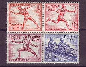 J15167 JLstamps 1936 nazi germany mnh from s/s #b92 blk/4 sports