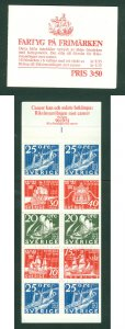 Sweden. Booklet. 1966. Mnh. Cancer Association. Ships On Stamps. Engraver: Ewert